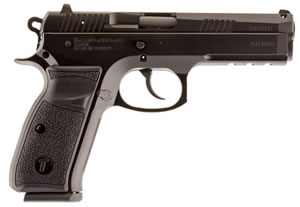 "Tri Star P-120 Pistol 85083, 40 S&W, 4.7"" BBL, Sing/Dbl Act, Black Polymer Grips, Blade Front, Dovetail Rear Sights, Black Finish, 17+1 Rds"