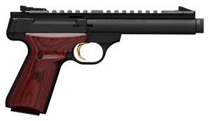"Browning 051527490 Buck Mark Field Target Pistol, 22 LR, 5.5"" BBL, Single Act, Cocobolo Grips, Pro Target Sights, Black Finish, 10+1 Rds"