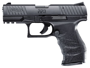 "Walther PPQ 22 Pistol 5100300, 22 LR, 4.0"" BBL, Single, Black Intg Backstrap Grips, Fixed Front, Adj Rear Sights, Black Finish, 12+1 Rds"