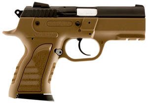 "EAA 999066 Compact Witness Pistol, 9mm, 3.6"" BBL, Single/Double Act, Adj Sights, Flat Dark Earth Finish, 13+1 Rds"