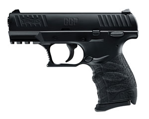 "Walther CCP Pistol 5080300, 9mm, 3.5"" BBL, Single Act, Integral Grips, 3-Dot Adj Low Profile Sights, Black Finish, 8+1 Rds"