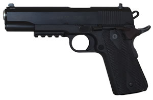 EAA Witness Elite 1911 Polymer Pistol 600347, 45 ACP, 5 in BBL, Single Act, Wood Grips, Fixed Sights, Black Finish, 8+1 Rds