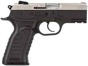 EAA Witness Carry Pistol 600246, 9mm, 3.6 in BBL, Single/Double, Black Syn Grips, Low Prof Dovetail Windage Sights, Two-Tone Finish, 17+1 Rds