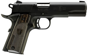 "Browning 051814490 1911-22 A1 Black Label Pistol, 22 LR, 4.3"" BBL, Single Act, Black Lam Grips, Fixed Sights, Black Finish, 10+1 Rds"