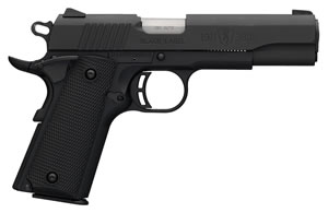 "Browning 051904492 1911-380 Black Label Pistol, 380 ACP, 4.3"" BBL, Single Act, Black Syn Grips, Fixed Sights, Black Finish, 8+1 Rds"