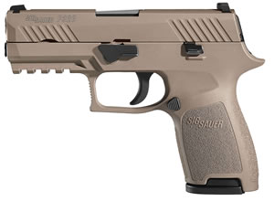 "Sig Sauer 320C357FDE P320 Compact Pistol, 357 Sig, 3.9"" BBL, Double Act, Integral Grips, Night Sights, Flat Dark Earth Finish, 13+1 Rds"