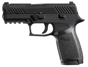"Sig Sauer 320CA9BSS P320 Carry Pistol, 9mm, 3.9"" BBL, Double Act, Integral Grips, Night Sights, Black Finish, 17+1 Rds"