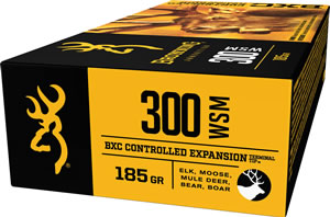 Browning Ammo B192230001 BXC Controlled Expansion 300 Winchester Short Magnum 185 GR Terminal Tip 20 Bx/ 10 Cs