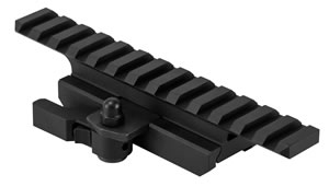 NCStar MARFQV2 Riser For AR15 Riser w/Quick Release 1-Piece Style Black Finish