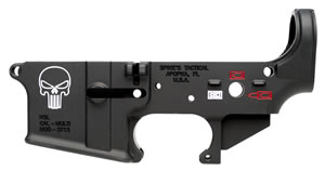 Spikes STLS015-CFA Lower Forged Punisher Multi-Caliber AR Platform Black