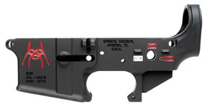 Spikes STLS019-CFA Lower Forged Spider Multi-Caliber AR Platform Black