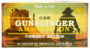 GBW Cartridge GS38A Gunslinger 38 Special 158 GR LRN Flat Point 50 Bx/ 10 Cs