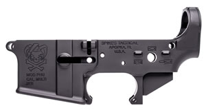 Spikes STLS024 Stripped Lower Punisher AR-15 AR Platform Multi-Caliber Black Hardcoat Anodized