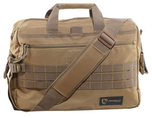 Drago Gear 15305TN Side Packs Tactical Laptop Briefcase Tan