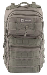 "Drago Gear 14309GY Ranger Tactical Laptop Backpack 600D Polyester 18"" x 17.5"" x 12"" Gray"