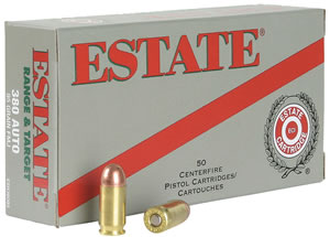 Estate ESH38130 Range 38 Special Full Metal Jacket 130GR 50Box/20Case