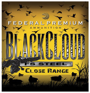 "Federal PWBD1424 Premium Black Cloud 12 ga 3"" 1-1/4oz 4 Shot 25Bx/10Cs"