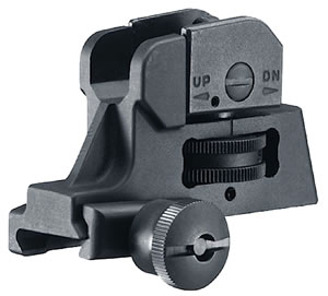 Walther Arms 576110 Rear Sight Tactical M4 & M16 Black
