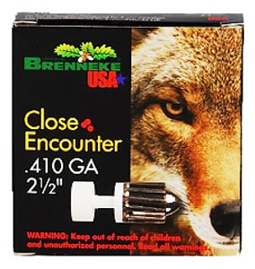 "Brenneke 2112252 Close Encounter 410 Gauge 2.5"" 1/4 oz Sabot Slug Shot 5 Bx/ 90 Cs"