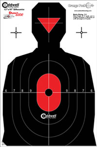 Caldwell 308-214 Flake Off Silhouette Dual Zone Target  8 Pack