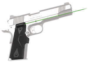 Crimson Trace LG401G Lasergrips 1911 Full Size/ Front Activation Green Laser Grip