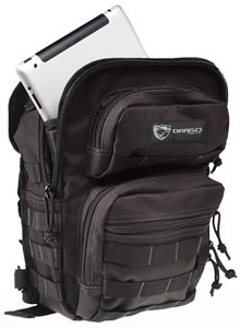 "Drago Gear 14306BL Sentry Pack For iPad Backpack 600D Polyester 13""x10""x7"" Black"