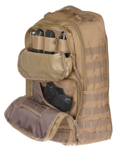 "Drago 14308TN Atlus Sling Pack Backpack Tactical 600D Polyester 19""x11""x10"" Tan"