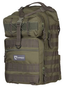 "Drago 14308GR Atlus Sling Pack Backpack Tactical 600D Polyester 19""x11""x10"" Green"