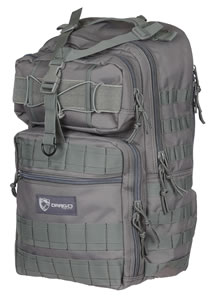 "Drago 14308GY Atlus Sling Pack Backpack Tactical 600D Polyester 19""x11""x10"" Grey"