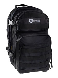 "Drago Gear 14305BL Scout Backpack  Tactical 600D Polyester 16""x10""x10"" Black"
