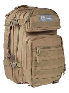 "Drago Gear 14305TN Scout Backpack  Tactical 600D Polyester 16""x10""x10"" Tan"
