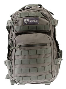 "Drago Gear 14305GY Scout Backpack Tactical 600D Polyester 16""x10""x10"" Gray"