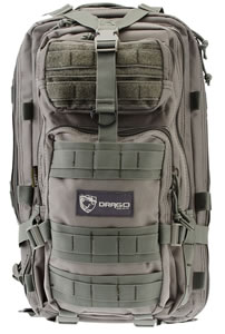 "Drago Gear 14301GY Tracker Backpack Tactical 600D Polyester 18"" x 11""x11"" Gray"