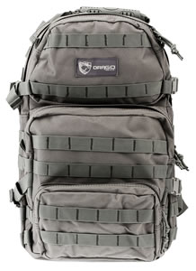 "Drago Gear 14302GY Assault Backpack Tactical 600D Polyester 20"" x 15""x13"" Gray"