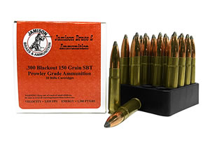 Jamison 300BLK150PRL Prowler Grade 300 AAC Blackout/Whisper (7.62X35mm) 150 GR Spitzer Boat Tail 20 Bx/ 10 Cs