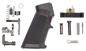 Spikes SLPK101 Lower Parts Kit Standard AR-15 Multi-Caliber Black