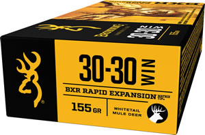 Browning Ammo B192130301 BXR Rapid Expansion 30-30 Winchester 155 GR Matrix Tip 20 Bx/ 10 Cs