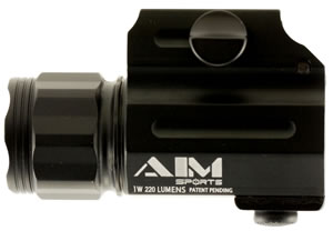 Aim Sports  Compact Flashlight 220 Lumens  Black