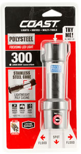 Coast 20765 Polysteel 400 300 Lumens AAA (4) Black