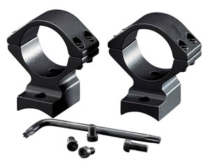 Browning 12376 2-Piece Base/Rings For Browning BAR/BLR Integral Mounting System Style Black Matte Finish