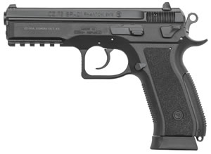 CZ 75 SP-01 Phantom Pistol 91258, 9mm, 4.6 in, 18+1, Black