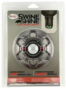 American Hunter AHHOGLITE Swine Shine LED Hog Light  AA (8) Black
