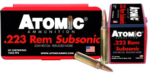 Atomic 00429 Subsonic 223 Remington/5.56 NATO 77 GR HPBT 50 Bx/ 10 Cs