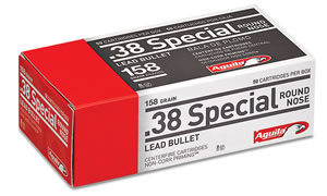 Aguila 38 Special 158 GR Lead Round Nose 50 Bx/ 20 Cs