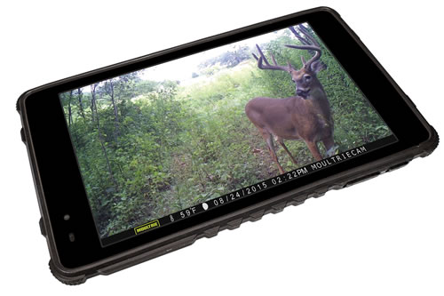 "Moultrie MCA13052 Tablet Photo Viewer 7"" Touch Screen Rechargeable"