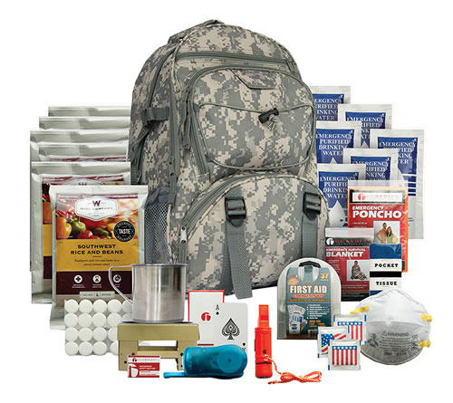 Wise Foods 01622GSG Emergency Supplies Five Day Survival Backpack Dehydrated/Freeze Dried Camo 32 Servings