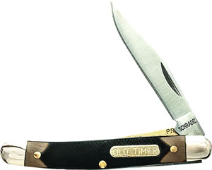 "Old Timer 18OT Mighty Mite Folder 2"" 7Cr17 SS Clip Point Syn Brown Handle"