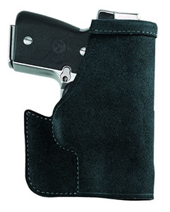 "Galco PRO486B Pocket Protector Ruger LCP w/LaserMax 2.7"" Barrel Steerhide Center Cut Blk"