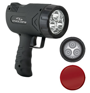 Cyclops CYCX500H Sirius 500 Handheld Light 500 Lumens 6 Volt Black