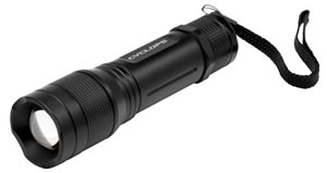 Cyclops CYCTF300 Tactical Flashlight Tri Mode 300 Lumens AAA (3) Black